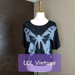 LOL Vintage Butterfly Top Black S